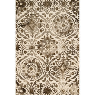 """Hand-hooked Bella Taupe Wool Rug (5'0 x 7'6) - 5' x 7'6"""""""