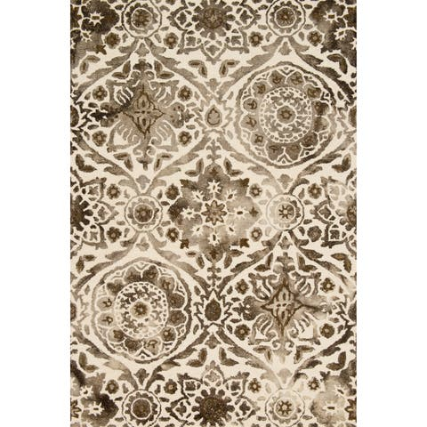 Hand-hooked Bella Taupe Wool Rug (5'0 x 7'6) - 5' x 7'6