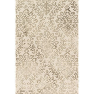 Hand-hooked Bella Stone Wool Rug (2'3 x 3'9)