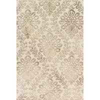 Hand-hooked Bella Stone Wool Rug - 2'3 x 3'9
