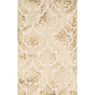 Hand-hooked Bella Beige Wool Rug (2'3 x 3'9)