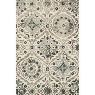 Hand-hooked Bella Slate Wool Rug (3'6 x 5'6)