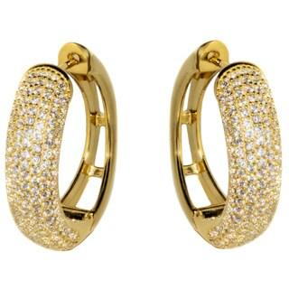 Pori 18k Gold over Silver Multi-row Cubic Zircona Earrings