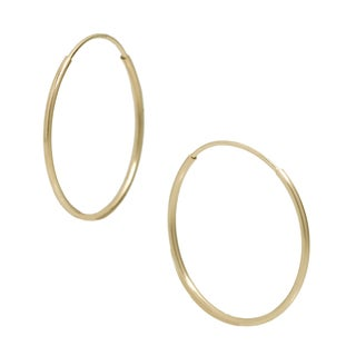 Pori 14k Yellow Gold 10mm Endless Hoop Earrings