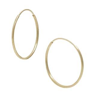 Pori 14k Yellow Gold 14mm Endless Hoop Earrings