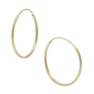 Pori 14k Yellow Gold 16mm Endless Hoop Earrings