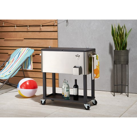 Trinity Stainless Steel Cooler With Shelf and Cooler Cover