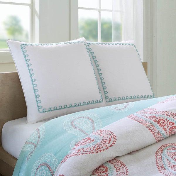 Echo Design Madira Ivory Cotton European Sham