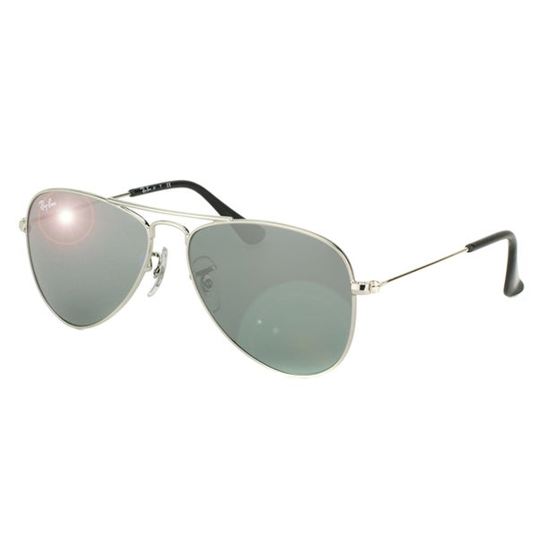 fcc2adbbb12 ... Boys  Accessories. Ray-Ban Boys  x27  RJ 9506 212 6G Shiny Silver Metal  Aviator