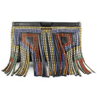 Miu Miu Black Leather Women's Clutch Handbag