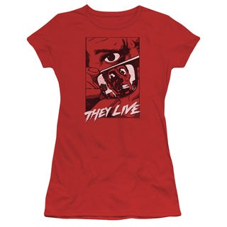 They Live/Graphic Poster Junior Sheer in Red