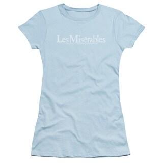 Les Miserables/Rubbed Logo Junior Sheer in Light Blue