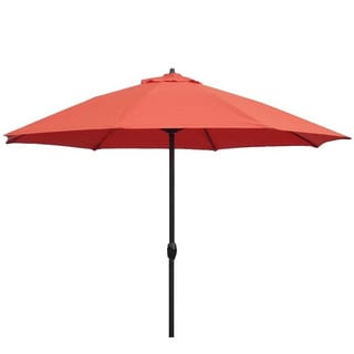 Lauren & Company Sunset Orange Fiberglass/Aluminum/Olefin 9-foot Auto-tilt Umbrella