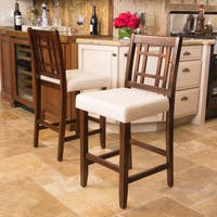 Nadia Acacia 26-inch Wood Counter Stool (Set of 2) by Christopher Knight Home