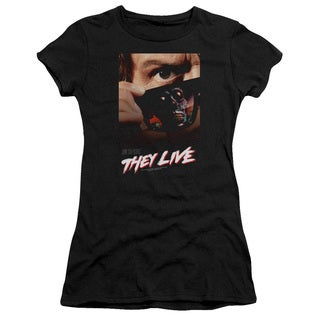 They Live/Poster Junior Sheer in Black