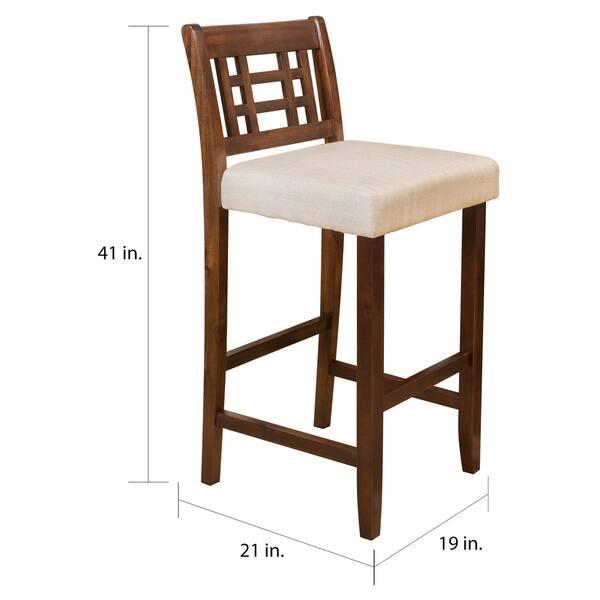 Fabulous Shop Nadia 30 Inch Acacia Wood Barstool Set Of 2 By Inzonedesignstudio Interior Chair Design Inzonedesignstudiocom