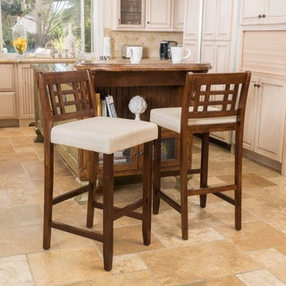 Christopher Knight Home Nadia Acacia Wood Barstool (Set of 2)