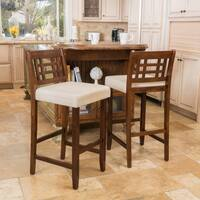 Nadia 30-inch Acacia Wood Barstool (Set of 2) by Christopher Knight Home