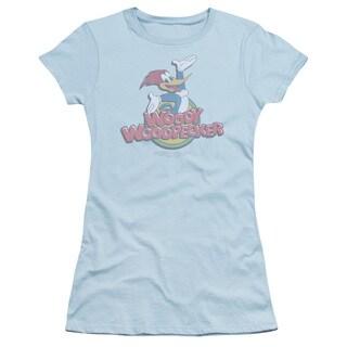 Woody Woodpecker/Retro Fade Junior Sheer in Light Blue