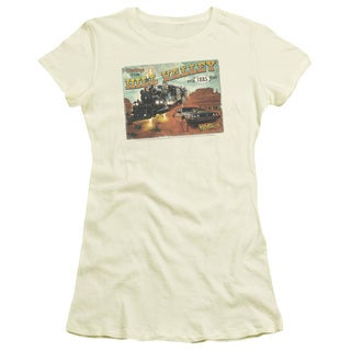 Back To The Future Iii/Hill Valley Postcard Junior Sheer in Cream