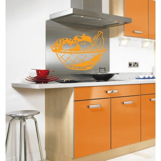 Still life fruit cup Wall Art Sticker Decal Orange