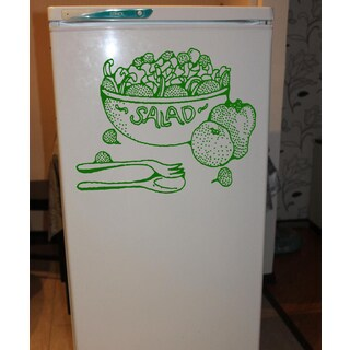 Vegetable Salad Wall Art Sticker Decal Green