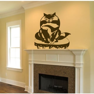Animal Funny cat Business cat Wall Art Sticker Decal Brown