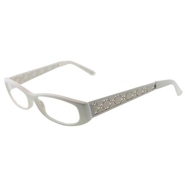 Gucci Women\'s GG 2975 HH0 White Plastic Rectangle Eyeglasses - Free ...