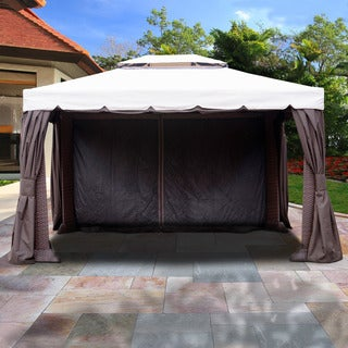 Atlantic 12 ft. W x 16 ft. D Synthetic Wicker and Aluminum Gazebo