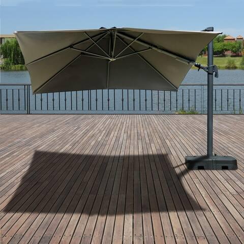 Buy Size 10 ft Black, Cantilever-Offset Patio Umbrellas ...