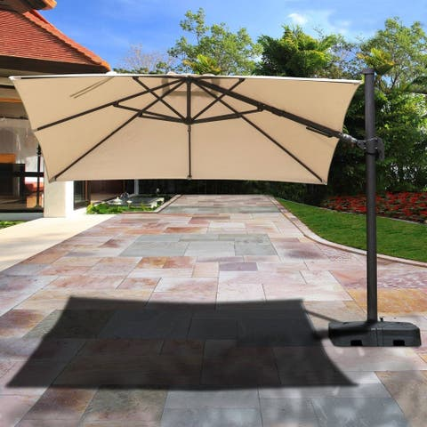 Havenside Home Kihei Aluminum Patio Umbrella and Base