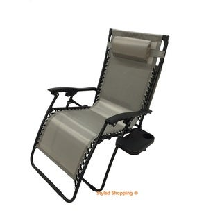 Mesh Fabric With Steel Frame Zero Gravity Chair With Canopy and Tray