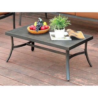 Carbon Loft Pascal Distressed Black Outdoor Coffee Table