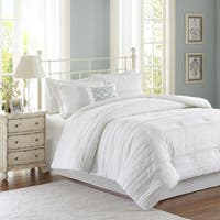 Madison Park Isabella White Queen Size Comforter Set in White (As Is Item)