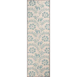 Hand-Tufted Palma Swirl Floral Polyester Rug (2'3 x 8')
