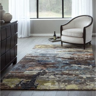Hand-Tufted Tacoma Multi Viscose Rug (2'3 x 8')