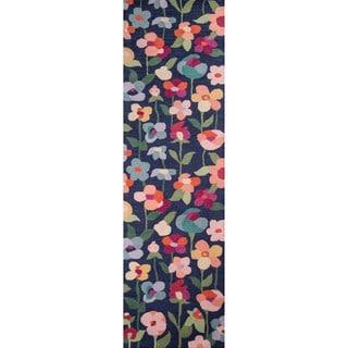 Hand-Tufted Danika Navy Wool Rug (2'3 x 8')