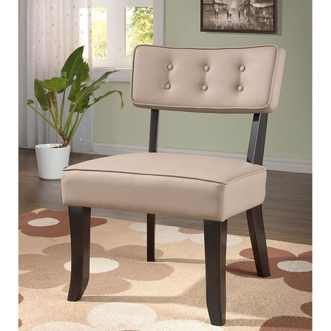 K&B Grey Faux-leather Accent Chair