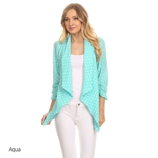 MOA Collection Women's Polka Dot Cardigan