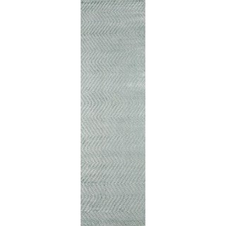 Hand-Loomed Collins Seafoam Viscose Rug (2'3 x 8')