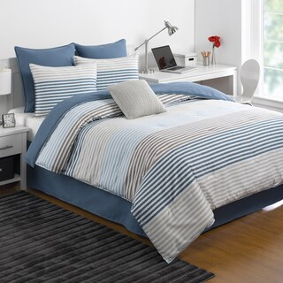 IZOD Chambray Stripe Comforter Set (3 options available)