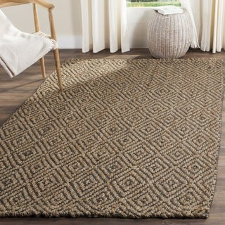 Safavieh Casual Natural Fiber Hand-Woven Natural / Grey Jute Rug (3' x 5')
