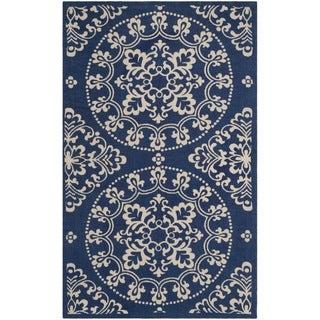 Safavieh Handmade Cedar Brook Navy/ Natural Jute Rug (2'3 x 3'9) - 2'3 x 3'9