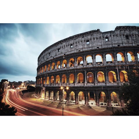 Cortesi Home 'Roman Nights' Tempered-glass Wall Art