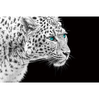 Cortesi Home 'The Pursuit' 24-inch x 36-inch Tempered Glass Wall Art