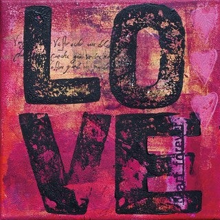 Cortesi Home 'All You Need is Love' Tempered Glass Wall Art