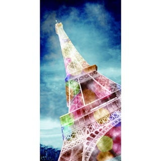 Cortesi Home 'We'll Always Have Paris' Multicolored Tempered Glass Wall Art (24 x 36)
