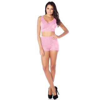 Rhonda Shear Pin-up Girl Women's Multi/Blue/Pink/Brown Lace Control Panty|https://ak1.ostkcdn.com/images/products/11914730/P18806369.jpg?impolicy=medium