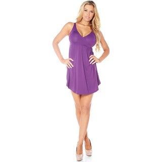 Rhonda Shear Sweet Cakes Women's Black/Orange/Purple Nylon/Spandex V-neckline Nightgown