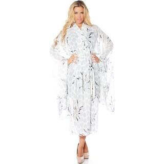 Rhonda Shear Georgette Women's Printed Chiffon Kimono Robe